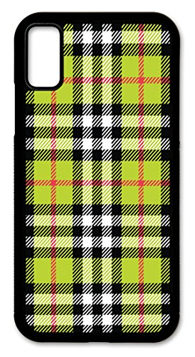 iPhone X Case, Slim Fit-Hard Shell Kunststoff-Full Schutzhülle für Apple iPhone X-Plaid Plaid Slip-ons