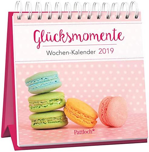 Glücksmomente - Mini-Kalender 2019: Wochenkalender zum Aufstellen m. Fotos u. Zitaten, Spiralbindung, 10,5 x 10,5 cm