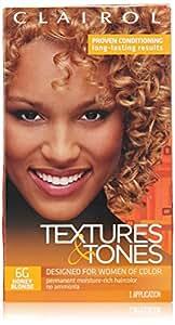 Clairol Coloration hydratante permanente Textures & Tones - Sans ammoniaque - Couleur 6G - Blond miel