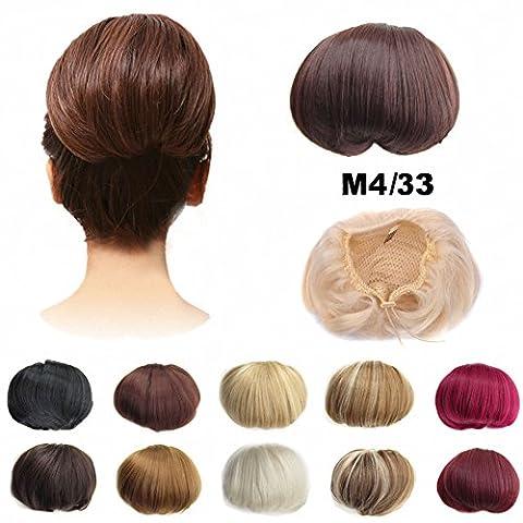 feshfen Haarschmuck/Haargummi für Haarknoten/Haarteil, Perücke Haar Band Pferdeschwanz Erweiterungen Clips