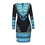 FEITONG Women Traditional African Print Dashiki Bodycon for sale  Delivered anywhere in Ireland