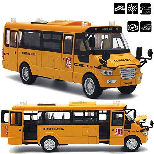 Autobús escolar fundido a troquel de aleación grande con puertas / luces...