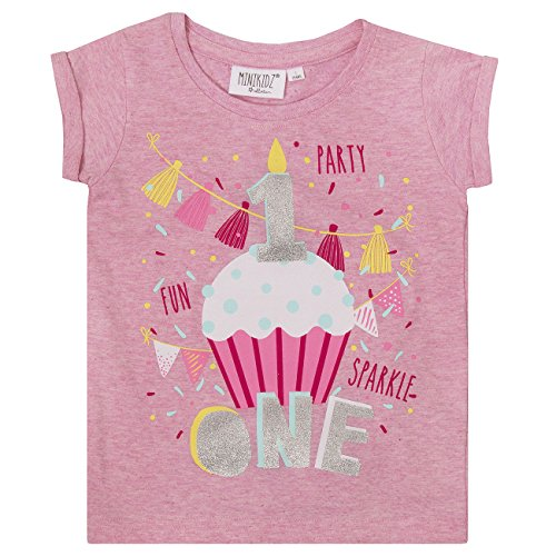 Minikidz Infant Girls Birthday T-Shirt (Ages 1-6 Years) Cotton Top Ideal Gift