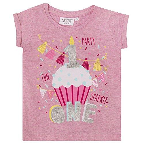 Minikidz Infant Girls Birthday T-Shirts Tee (Ages 1-6 Years)