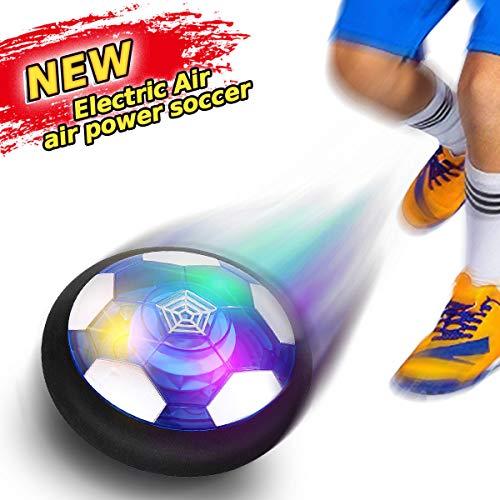 YORKOO Spielzeug zum 2-6 Jahre Alt Jungen Hover Fußball Fussball für Kinder Air Fußball mit LED Beleuchtung Innen und Draussen Spiele Geburtstags Geschenke für Kinder