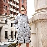 TT&FUSHI Herbst und Winter Damen waren dünne Kapuze Baumwolle langen Abschnitt dicke dicke dicke Jacke , gray , xxl
