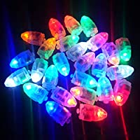 ANBET 100 Pcs LED Balloon Lights Colorful Flashing LED Party Balloon Light for Paper Lanterns Balloon Birthday Wedding Halloween Party Decoration