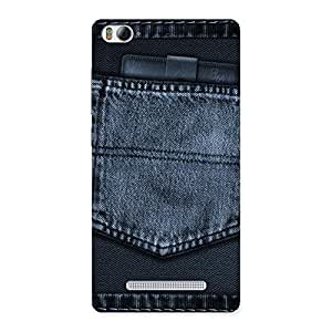 Navy Jeans Pocket Back Case Cover for Xiaomi Mi4i