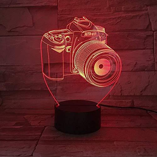 Neu LED-Kamera Illusion Lampe Tischleuchte USB Nachtlicht RGB Romantische Abenddekoration Lampe Geschenk Neuheit Acryl Entertainment 3D