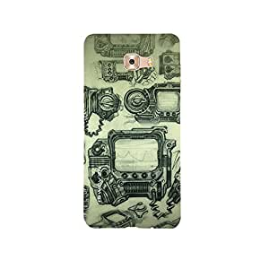 iSweven Vintage Camera design printed matte finish back case cover for Samsung Galaxy C9 Pro