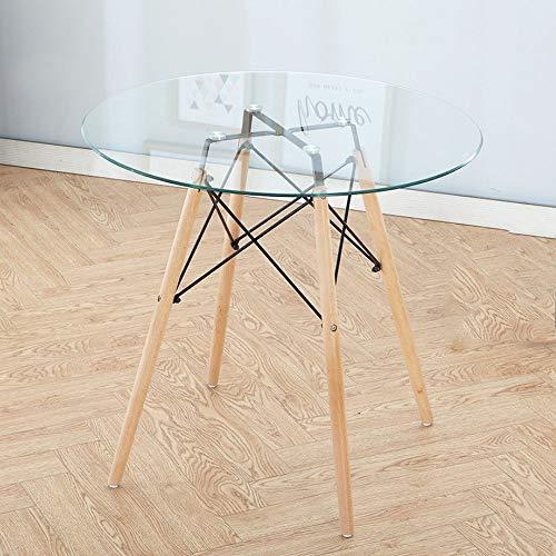 Klapptisch Fly® Nordic Rundtisch Haushalt Gehärtetem Glas Einfache Massivholz Kleinen Runden Tisch Empfangstheke (größe : 60cm)
