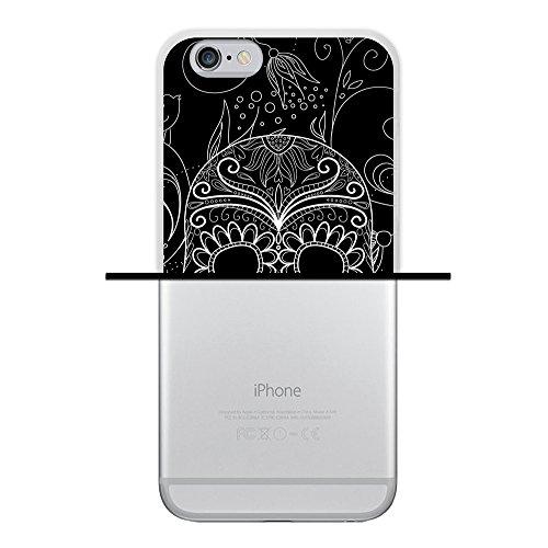 iPhone 6 6S Hülle, WoowCase Handyhülle Silikon für [ iPhone 6 6S ] Herz Liebe Satz - I Love You To The Moon And Back Handytasche Handy Cover Case Schutzhülle Flexible TPU - Schwarz Housse Gel iPhone 6 6S Transparent D0059