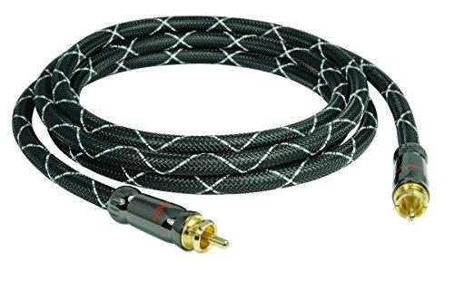 SunshineTronic Blackline Subwoofer-Kabel   4-Fach geschirmt   25m 25 Subwoofer