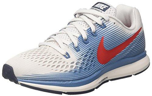 Nike 880555 - Chaussures de Running - Homme - Multicolore (Gris Vaste/Bleu Cyclone Mer Égée/Bleu Multicolore Orage/Rouge Université 016)