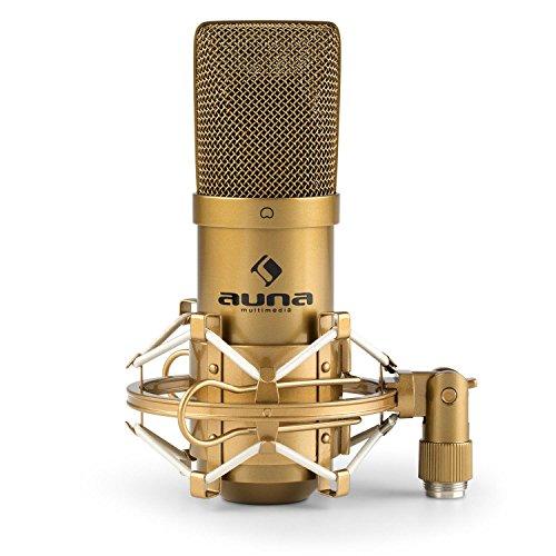auna MIC-900G • USB Kondensator-Mikrofon • Nierencharakteristik • Metallgehäuse • Frequenzbereich: 30Hz - 18kHz • Plug & Play • Mikrofonspinne mit 3/8