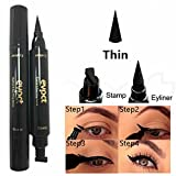 Eyeliner - Delaman Double Ended Black Liquid Eyeliner Stamp Pen, Cat Style, Impermeabile, Di Lunga Durata (Size : Thin)