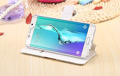 Coque iPhone 5C , iNenk® Bowknot soie modèle PU cuir pâte perceuse téléphone étui protecteur Fashion housse Paillettes luxe diamant Wallet Shell-Rose Roserouge