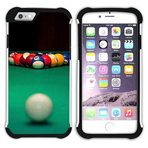 """Graphic4You Billard Billardspiel Kugel """"8 Ball"""" Hart + Weiche Kratzfeste Hülle Case Schale Tasche Schutzhülle für Apple iPhone 6 / 6S Design #1"""