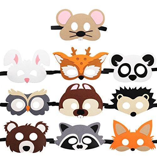restfriends filz masken 10 pc tier cosplay charater schablonen-partei-bevorzugungen lieferungen oder mädchen mittel ()