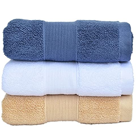 Set of 3 Luxury 700 GSM Egyptian Cotton Large hand towels set ( 36cm x 76cm) - Multipurpose Use for Bath, Hand, Face, Gym and Spa - By YZL Towels (Set of 3 Cotton Hand