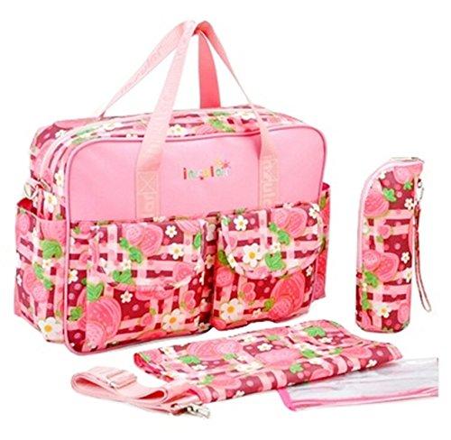 Preisvergleich Produktbild Mutter für Kinderwagen mit Getränkehalter und zusätzlicher Schulterriemen im Muster Unisex rosa
