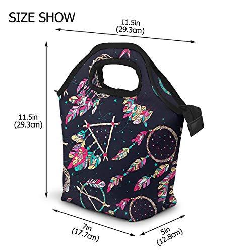 Bolsa Térmica Comida Bolsas de Almuerzo Para Mujeres Hombres Niñas Niños Del Almuerzo Atrapasueños púrpura