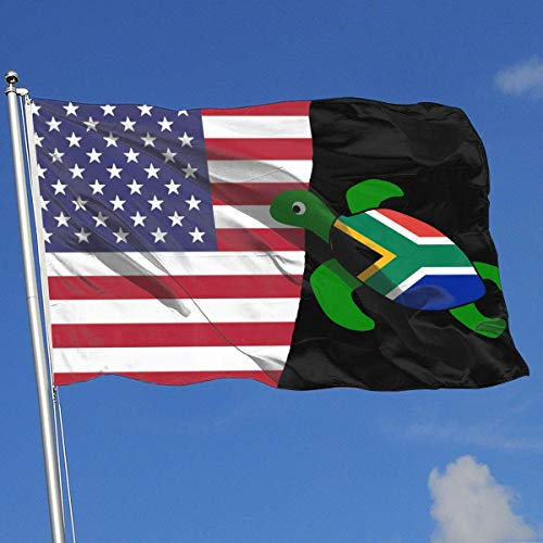 jhin Bandiere Decorative Sea Turtle South African Flag 100% Polyester Single Layer Translucent Flags, Fashion 3 X 5 Welcome Banner