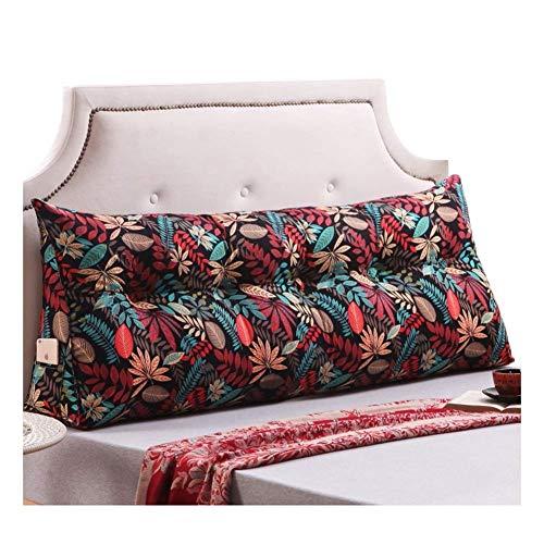 LPD-Stützbet Keilförmiges Bettkissen Kissen Rückenkissen Lesen Kopfkissen Sofa Bett Rückenlehne Keilkissen Keilförmiges Stützkissen, 12 Farben, 5 Größen (Color : 011, Size : 150X20X50CM)