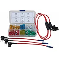 Digiten auto Mini lama tipo ATM fusibili assortiti + Inline 16 AWG gauge Holder + add-a-circuito rubinetto
