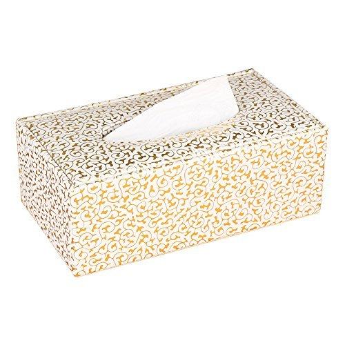 KINGFOM rectangular piel caja de pañuelos para la oficina en casa, decoración de coche Automotive