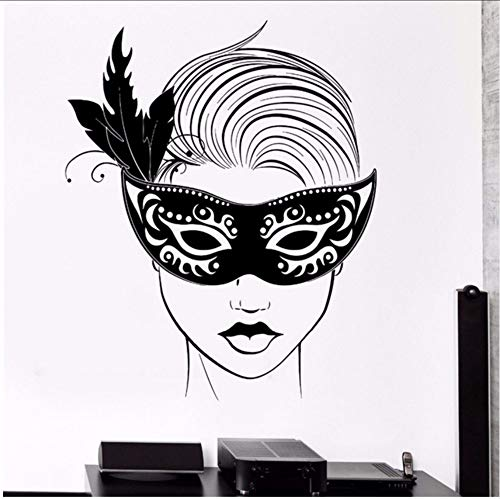 Lsfhb 55X71Cm Wandtattoo Karneval Maske Maskerade Sexy Hot Girl Vinyl ()