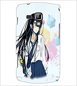 Printdhaba Cute Girl D-3955 Back Case Cover For Samsung Galaxy S Duos S7562