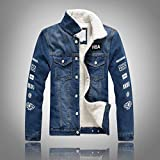 Nilesh Men's Coats Jackets,Winter Casual Fashion Pure Color Patchwork Jacket Zipper Outwear Coat (Nilesh JK56)