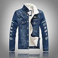 Nilesh Men's Coats Jackets,Winter Casual Fashion Pure Color Patchwork Jacket Zipper Outwear Coat (Nilesh JK56 S)