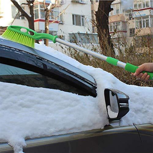 RUIX Eiskratzer Und Schneebürste, Einziehbares Schneeabbauwerkzeugauto des Autos Mit Schnee, Der Enteisungsschaufel Enteist