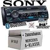 Mercedes A-Klasse W168 - Autoradio Radio Sony DSX-A510BD - DAB+ | Bluetooth | MP3/USB - Einbauzubehör - Einbauset