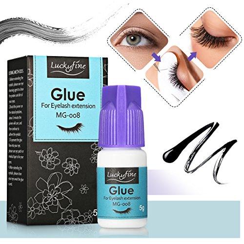 Colle Adhésif pour Faux Cils LuckyFine Colle pour Faux Cils Eyelash Adhesive Imperméable Colle Adhésif Fort 5g