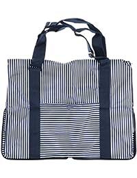 Generic Striped Foldable Handbag Shoulder Bags Shopping Travel Bags