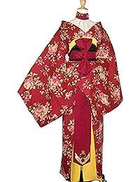 dae52ed290ed TIKEHAN Kimono Traditionnel Japonais Nouvel an Féminin Festival De  Mascarade Costumes d halloween