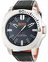 BOSS Orange Herren-Armbanduhr SAO PAULO Analog Quarz Leder 1513295