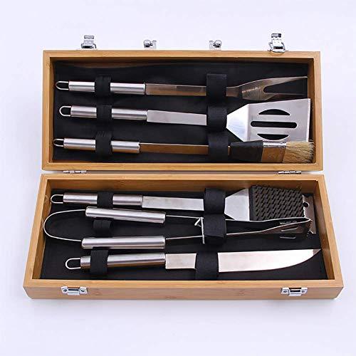 Grillbesteck BBQ Grill Zubehör Set, Edelstahl Grillbesteck im Aluminium Koffer, Professionelle Camping im Freien Barbecue Grill Werkzeuge Zubehör Kit - Bbq-zubehör-kit
