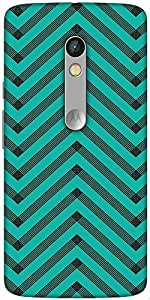 Snoogg Sketchy Wide Pattern Designer Protective Back Case Cover For Motorola Moto X Play