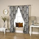 Threadmix Waves Polycotton Curtain(Grey,...
