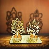 Lakshmi Ganesha (Ridhi Shidhi) Diwali Diya de l'ombre. Deepawali décoratifs traditionnels Diya en forme de Laxmi Ganesh pour Home/Office.. religieux Photophore. Diwali Décoration Cadeau de Diwali