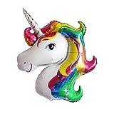 iShine 100 CM Ballon Licorne Multicolore en Aluminium Idéal pour Décoration Anniversaire Fête