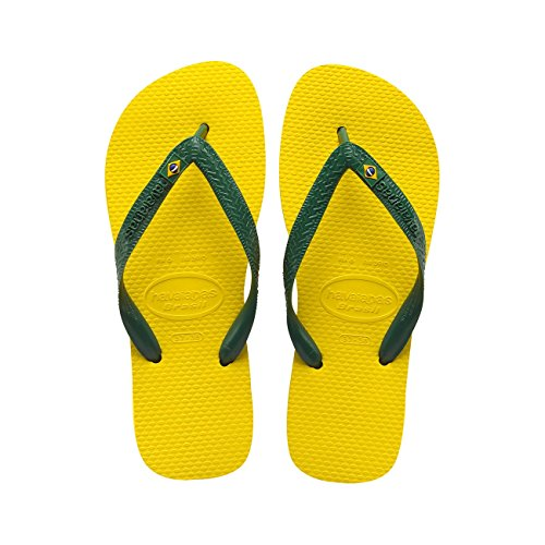 Havaianas Brasil Helios Tong, Jaune (Citrus Yellow) 41/42 EU (39/40 Brazilian)