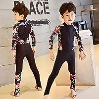 Combinaison Zip maillot de bain, hommes, femmes et enfants, sur tout le corps de l'écran solaire siamois pantalons à manches longues maillot de bain de source chaude