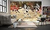 """'komar 011della DVD4Star Wars carta da parati in tessuto non tessuto di""""Star Wars Imperial Strike, misura 400x 250cm (larghezza x altezza), 4tracce, compreso il materiale per, bunt"""