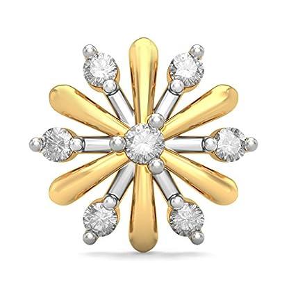 BlueStone 18K Yellow Gold and Diamond Neva Earrings
