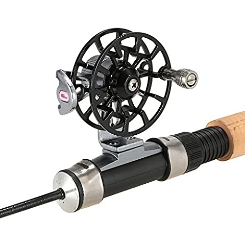 Lixada Mini Ultraléger Fly Reel Right Fly Handed Moulinet CNC en Aluminium Usiné Full Metal Reel Ancien Ice Fishing Reel Wheel Spool Tackle Outil
